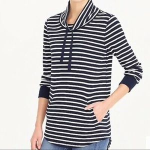 J. Crew striped crew neck sweatshirt